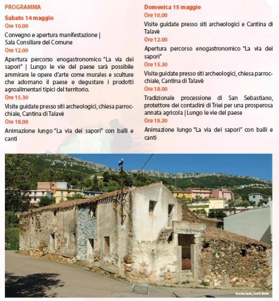 Primavera nel Marghine, Ogliastra e Baronia a Triei - Programma