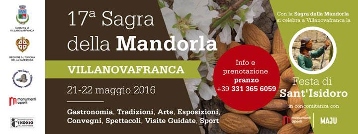 17^ Sagra della Mandorla a Villanovafranca  - Sabato 21 e Domenica 22 Maggio 2016