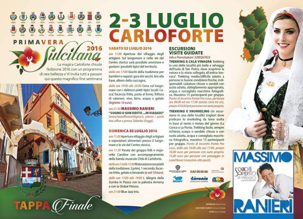 Primavera Sulcitana 2016: l'ultimo appuntamento a Carloforte