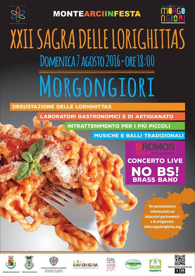 XXII Sagra delle Lorighittas - Domenica 7 agosto 2016 a Morgongiori