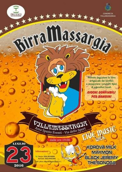 Birramassargia 2016: Festa della Birra di Villamassargia - Sabato 23 luglio 2016