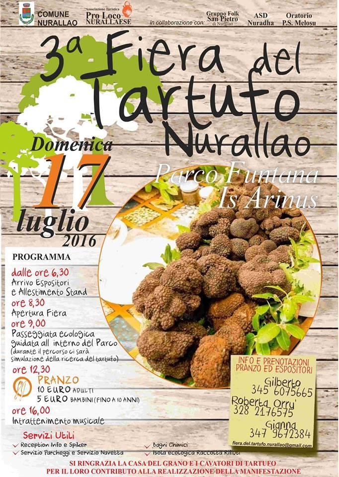 3^ Fiera del Tartufo a Nurallao - Domenica 17 Luglio 2016