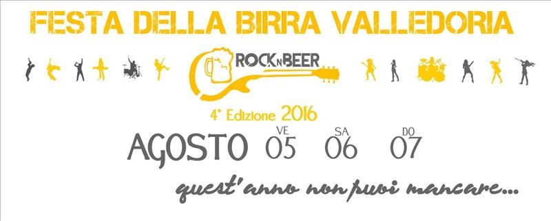 Rock n'Beer a Valledoria - La Festa della Birra dal 5 al 7 Agosto 2016