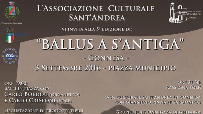 5^ edizione Ballus a s'Antiga - A Gonnesa il 3 Settembre 2016