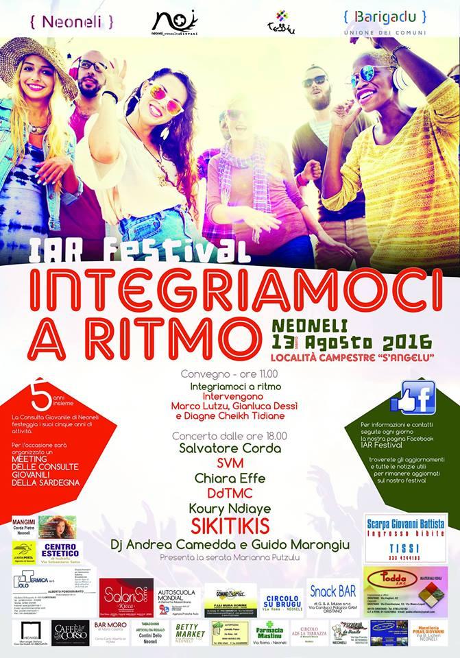 IAR Festival - Sabato 13 agosto 2016 a Neoneli