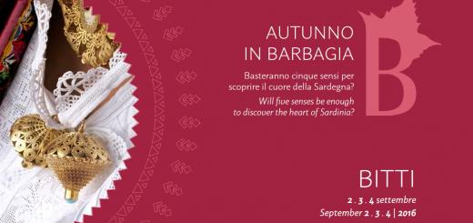 Autunno in Barbagia a Bitti - Dal 2 al 4 settembre 2016