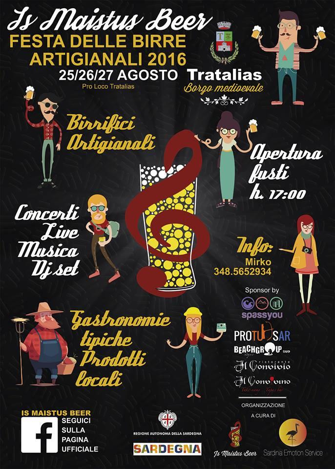 Is Maistus Beer: Festa delle birre artigianali - A Tratalias dal 25 al 27 agosto 2016