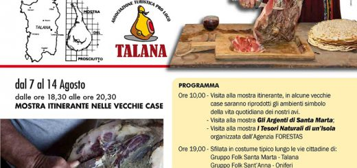 XXVI Sagra del Prosciutto a Talana - Domenica 7 agosto 2016