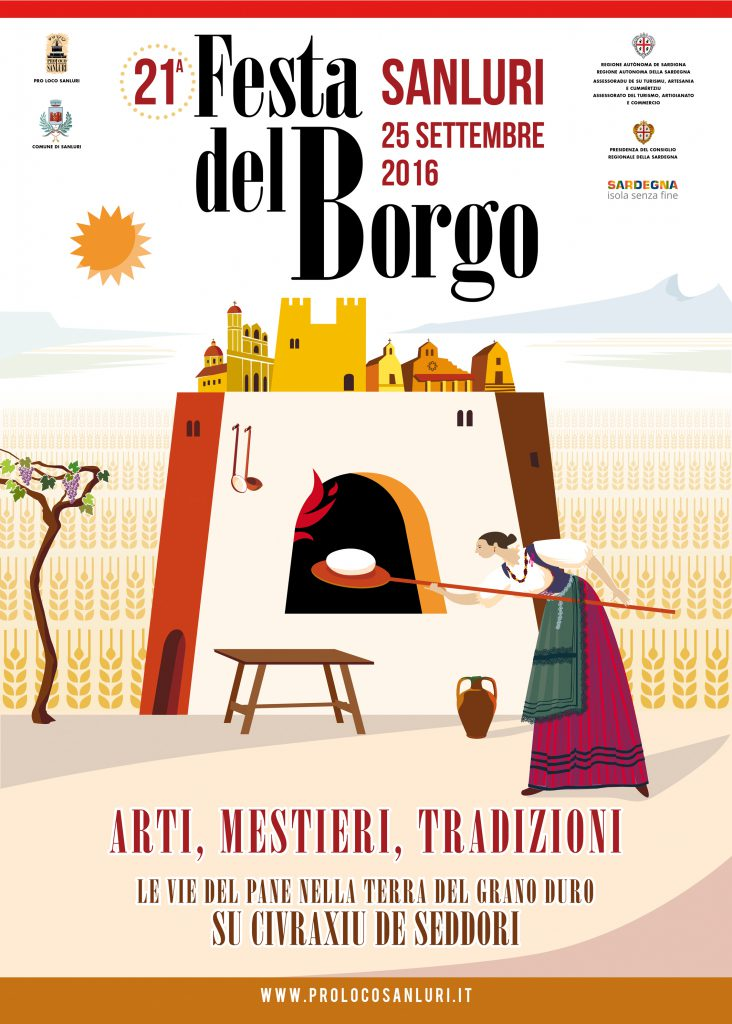 21^ edizione della Festa del Borgo - Domenica 25 settembre 2016 a Sanluri