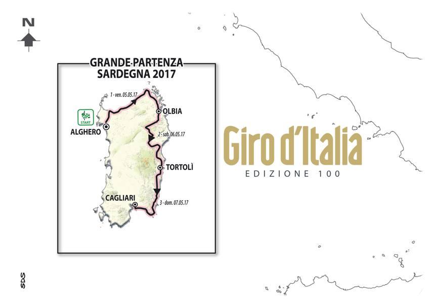 Il #Giro d'Italia 2017 partirà dalla #Sardegna!