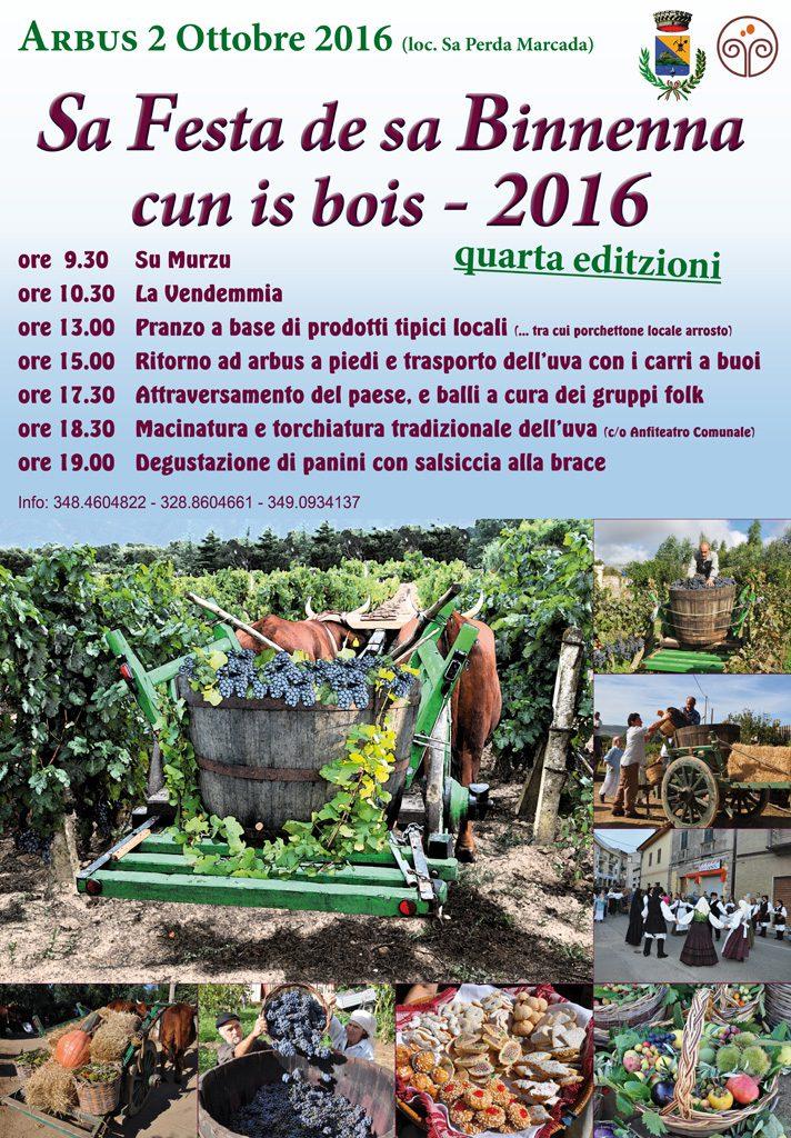 """""""Sa Festa de sa Binnenna cun is bois"""" - Ad Arbus il 2 ottobre 2016"""
