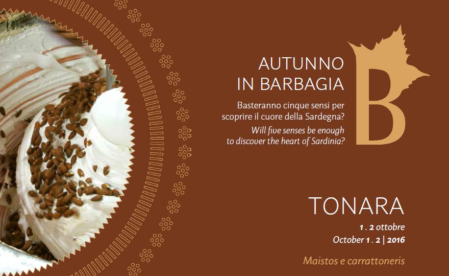 Autunno in Barbagia a Tonara - Sabato 1 e domenica 2 ottobre 2016