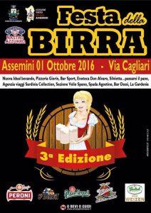 3^ edizione Festa della Birra ad Assemini - Sabato 1 ottobre 2016