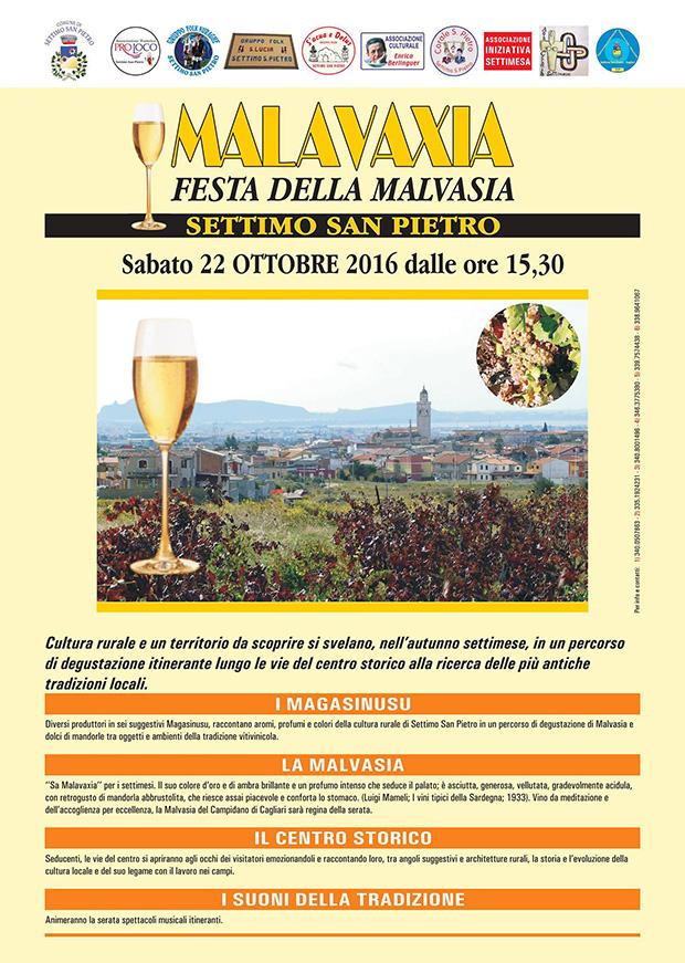 Festa della Malvasia 2016 a Settimo San Pietro - Sabato 22 ottobre