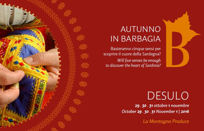 Autunno in Barbagia a Desulo - Dal 29 ottobre al 1 novembre 2016