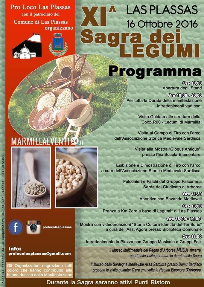 Sagra dei Legumi a Las Plassas - Domenica 16 ottobre 2016
