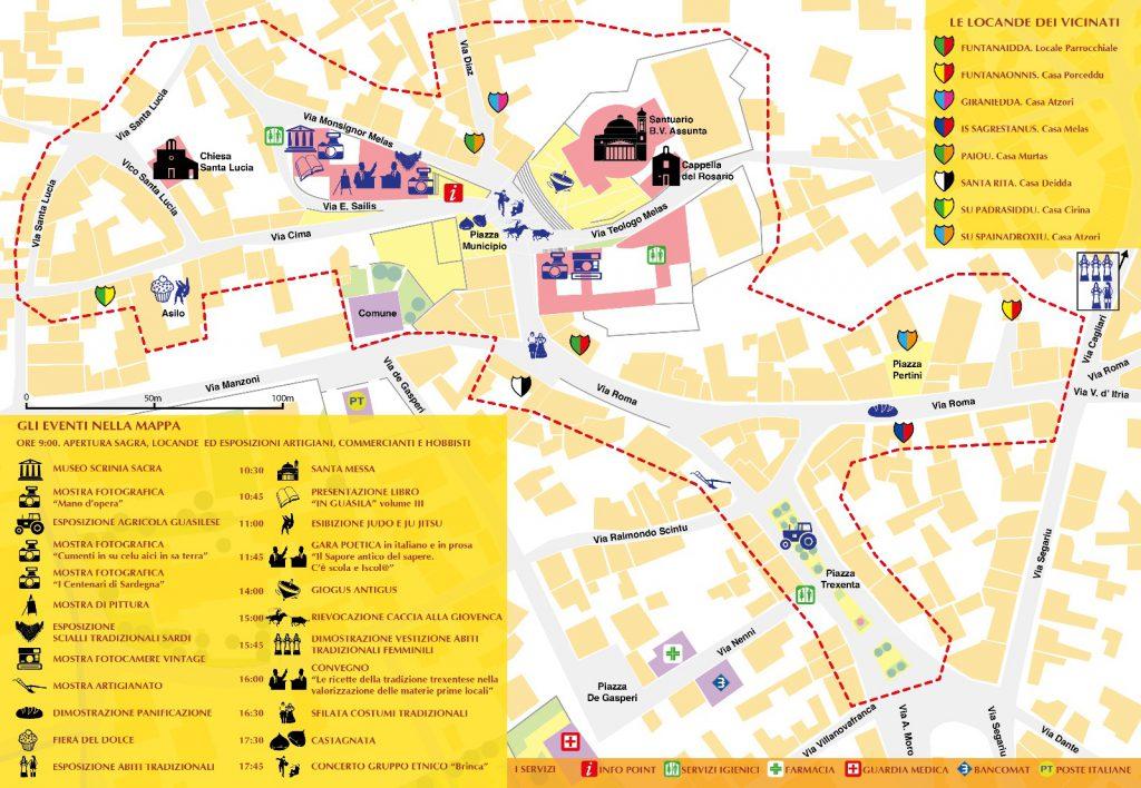Saboris Antigus: Guasila tra sapori e cultura - Mappa