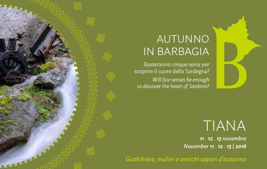 Autunno in Barbagia a Tiana - Dall'11 al 13 novembre 2016