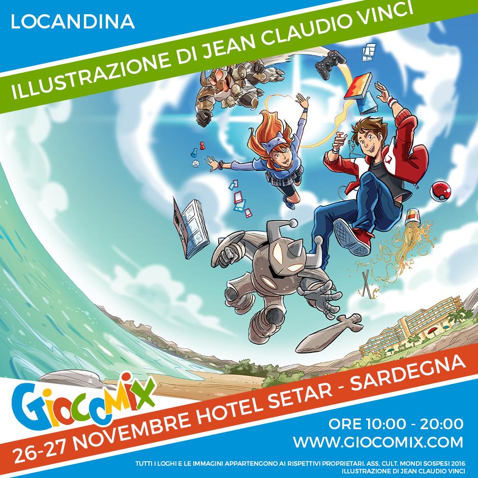 Giocomix: 9° Festival del Fumetto e del Gioco – A Cagliari il 26 e 27 novembre 2016