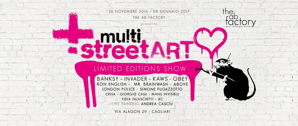 Multi Street ART – In mostra a Cagliari dal 26 novembre 2016 all'8 gennaio 2017