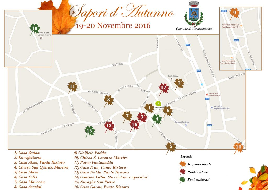 Sapori d'Autunno 2016 a Ussaramanna - Sabato 19 e domenica 20 novembre