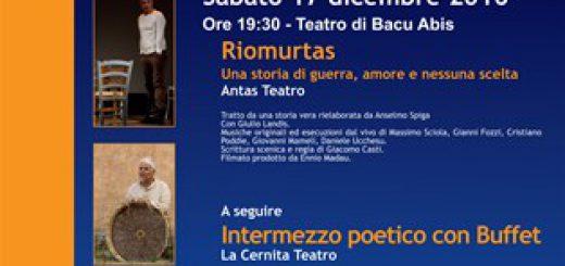 IV edizione di Teatro per la Città - A Carbonia il 17 dicembre 2016