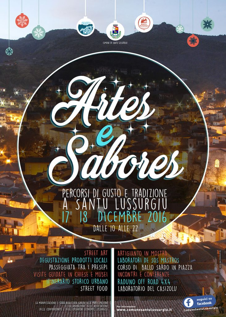 Artes e Sabores 2016 a Santu Lussurgiu - Il 17 e 18 dicembre 2016