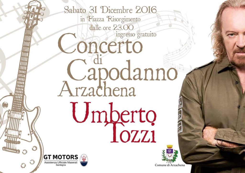 Umberto Tozzi e la sua band in concerto ad Arzachena