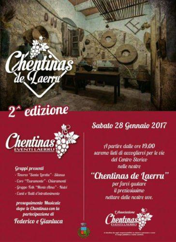 2^ edizione Chentinas de Laerru - Sabato 28 gennaio 2017