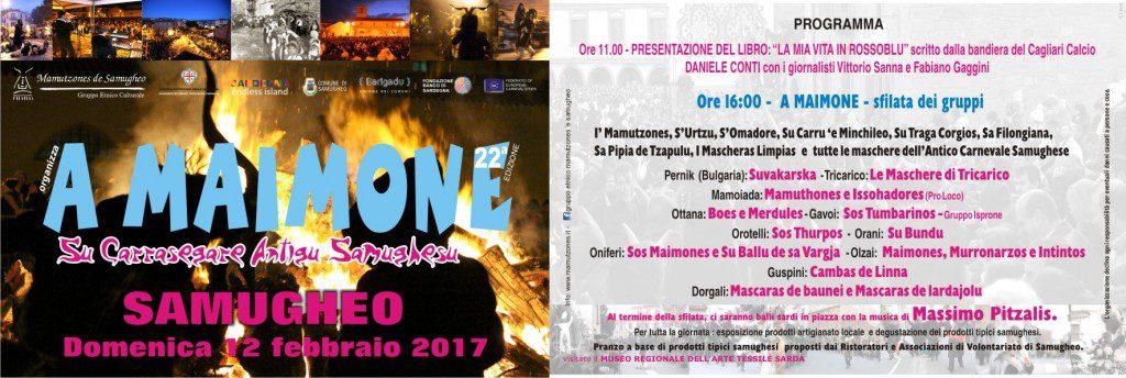 """""""A Maimone"""": il Carnevale di Samugheo - Sabato 12 febbraio 2017"""