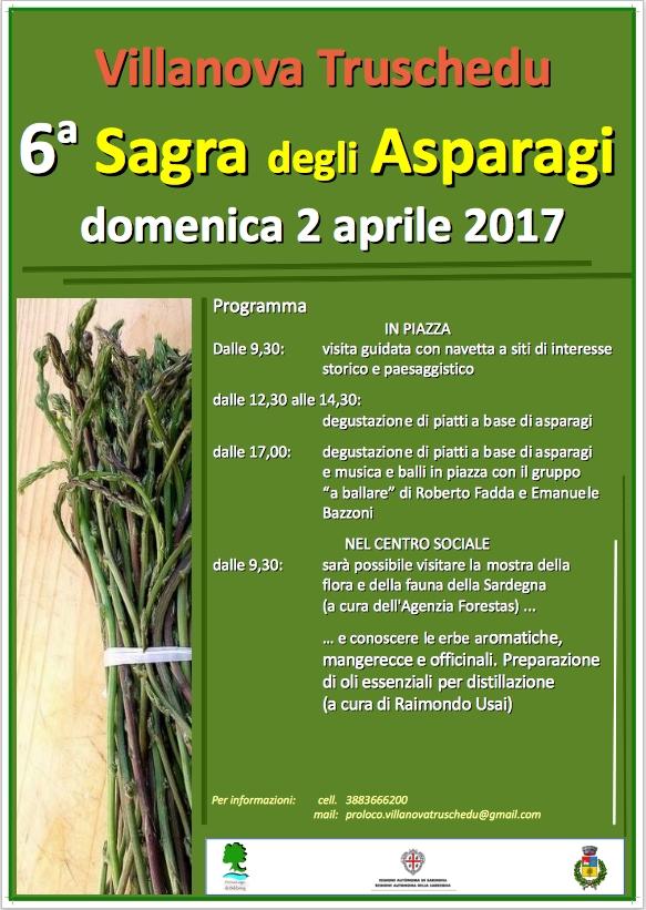 6^ edizione della Sagra degli Asparagi - A Villanova Truschedu il 2 aprile 2017