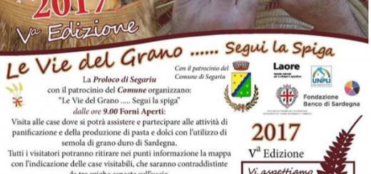 """5^ edizione """"Le vie del grano"""" - A Segariu domenica 2 aprile 2017"""