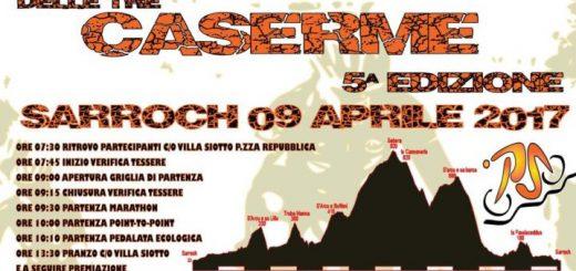 5^ edizione Marathon delle Tre Caserme - A Sarroch domenica 9 aprile 2017