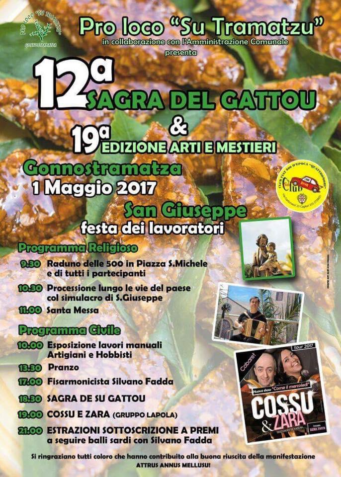 XII Sagra del Gattou a Gonnostramatza - Lunedì 1 maggio 2017