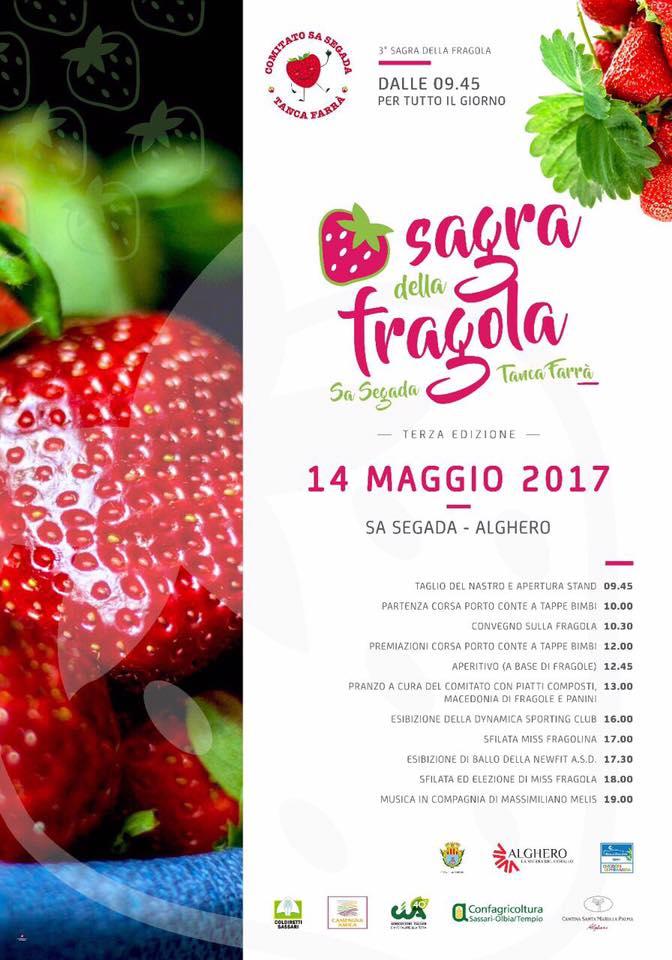 Terza edizione sagra della fragola ad Alghero - Domenica 14 maggio 2017