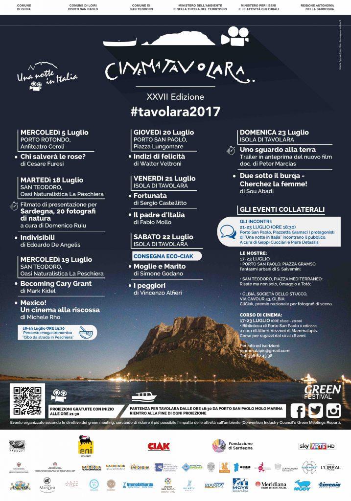 27^edizione del Festival del Cinema di Tavolara - Dal 18 al 23 luglio 2017