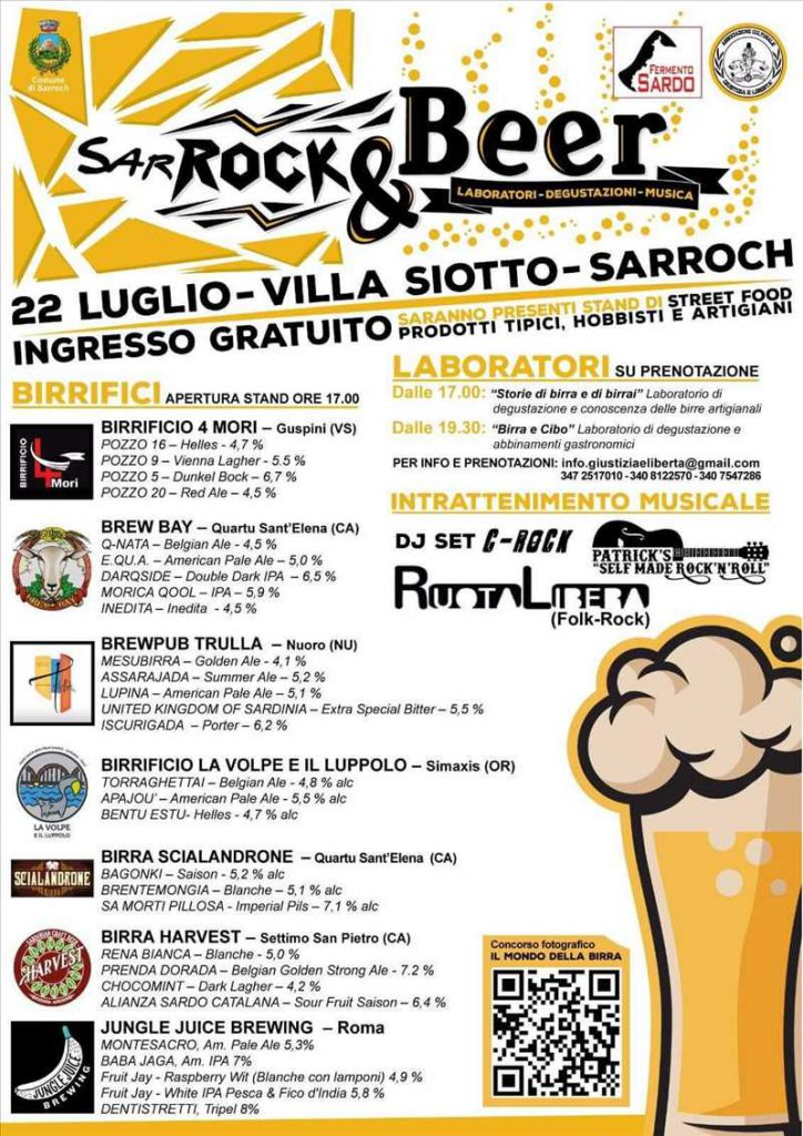 SarRock & Beer 2017 - A Sarroch il 22 luglio 2017