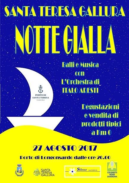 Domenica 27 agosto 2017 c'è la Notte Gialla a Santa Teresa Gallura