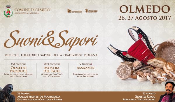 Suoni & Sapori Musiche: Folklore e Sapori della Tradizione Isolana - Ad Olmedo il 26 e 27 agosto 2017