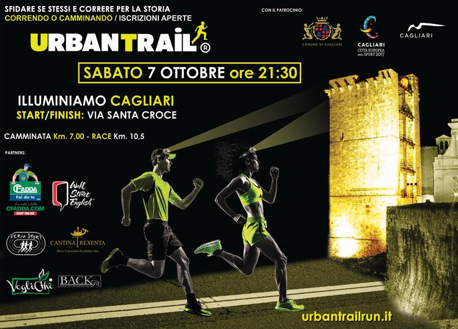 5^ edizione Cagliari Urban Trail - Sabato 7 ottobre 2017