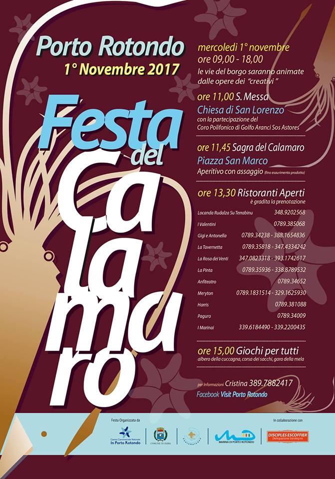 Festa del Calamaro a Porto Rotondo - Mercoledì 1 novembre 2017
