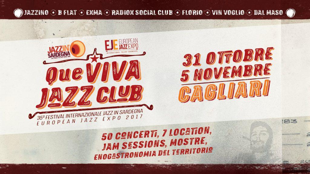 35° Festival Internazionale Jazz in Sardegna – EJE 2017 - A Cagliari dal 31 ottobre al 5 novembre 2017