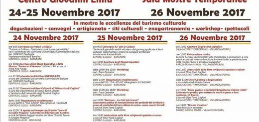 4° Expo del Turismo Culturale in Sardegna - A Barumini e Villanovaforru dal 24 al 26 novembre 2017
