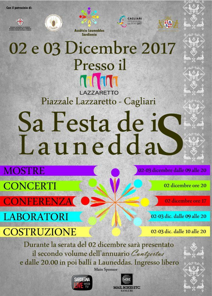 2^ edizione Sa Festa de is Launeddas a Cagliari - 2 e 3 dicembre 2017