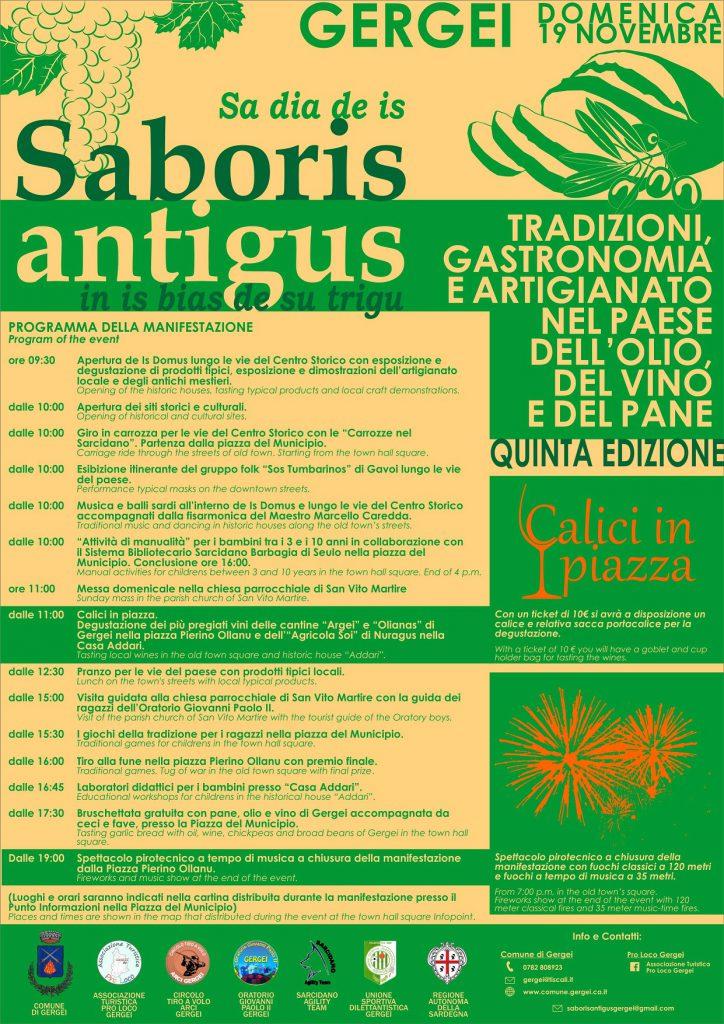 Saboris Antigus 2017 a Gergei - Domenica 19 novembre 2017
