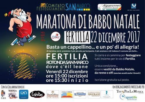 Maratona di Babbo Natale - Venerdì 22 dicembre 2017 a Fertilia