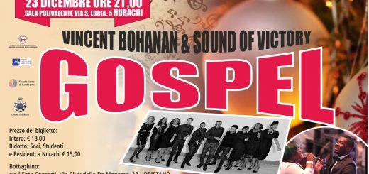 Vincent Bohanan & Sound of Victory - Sabato 23 dicembre 2017 a Nurachi