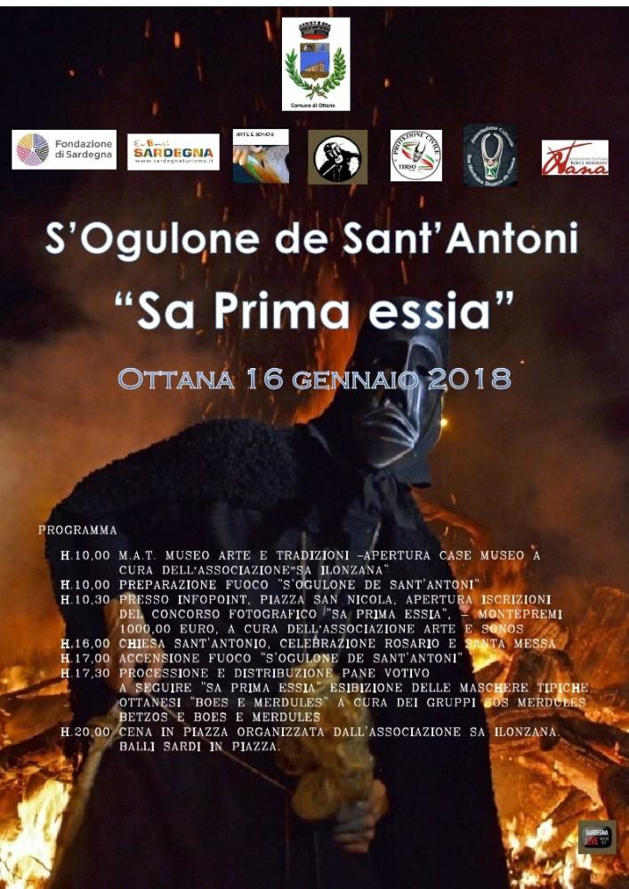 S'Oculone de Sant'Antoni: Sa prima essia - Ad Ottana il 16 gennaio 2018