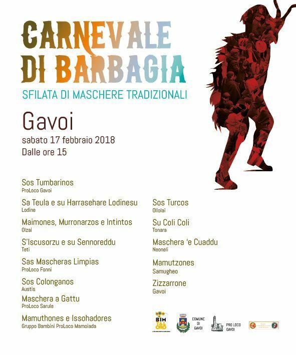 Carnevale di Barbagia 2018 - Sabato 17 febbraio a Gavoi