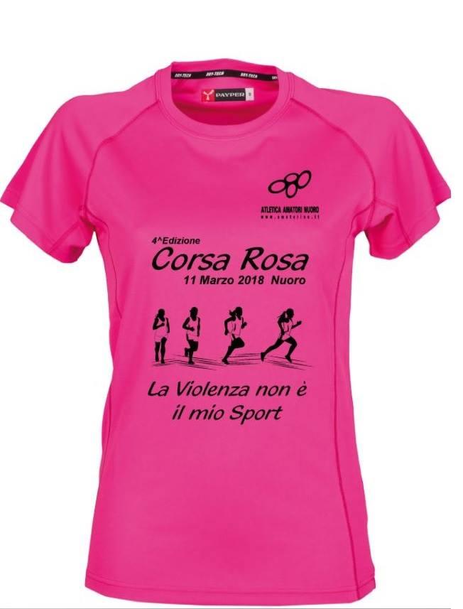 La maglia tecnica rosa della 4^ edizione della Corsa Rosa a Nuoro